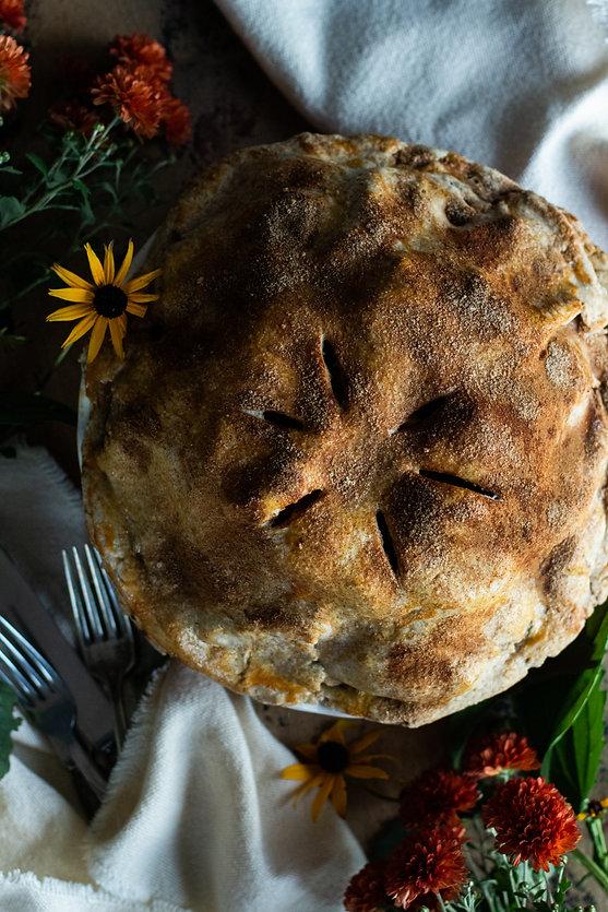 Photo ''Tarte aux pommes, dattes et aman