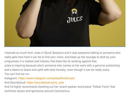 Nice to Meet you Monday : Jules