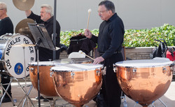 Percussionists Timm Boatman and