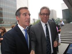 Los Angeles Mayor Eric Garcetti with