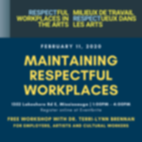 Respectful Workplace in the Arts Graphic