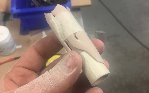 Shaping the body componants by hand.