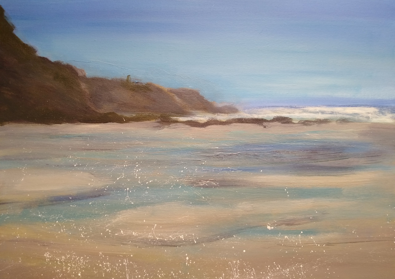 "Karen Smith ""Bliss"" Acrylic on canvas 46 x 60 cm £265 inc UK p+p"