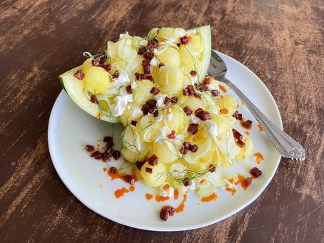 Yellow Watermelon & Fennel Salad