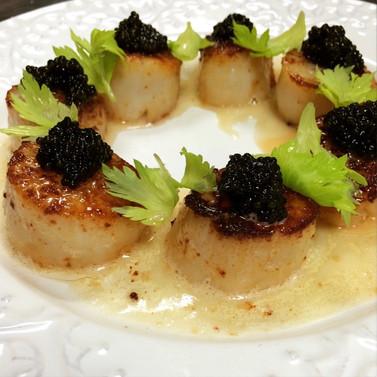 Scallops & Caviar
