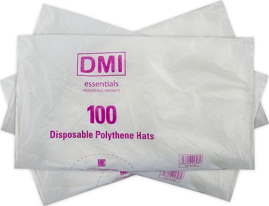 Disposable Polythene Hats x100