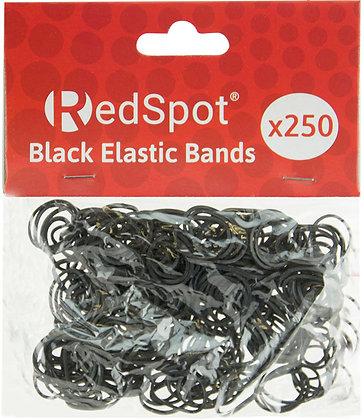 Red Spot Black Elastic Bands x 250