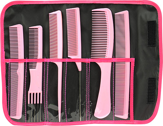 Pink Combank Comb Set