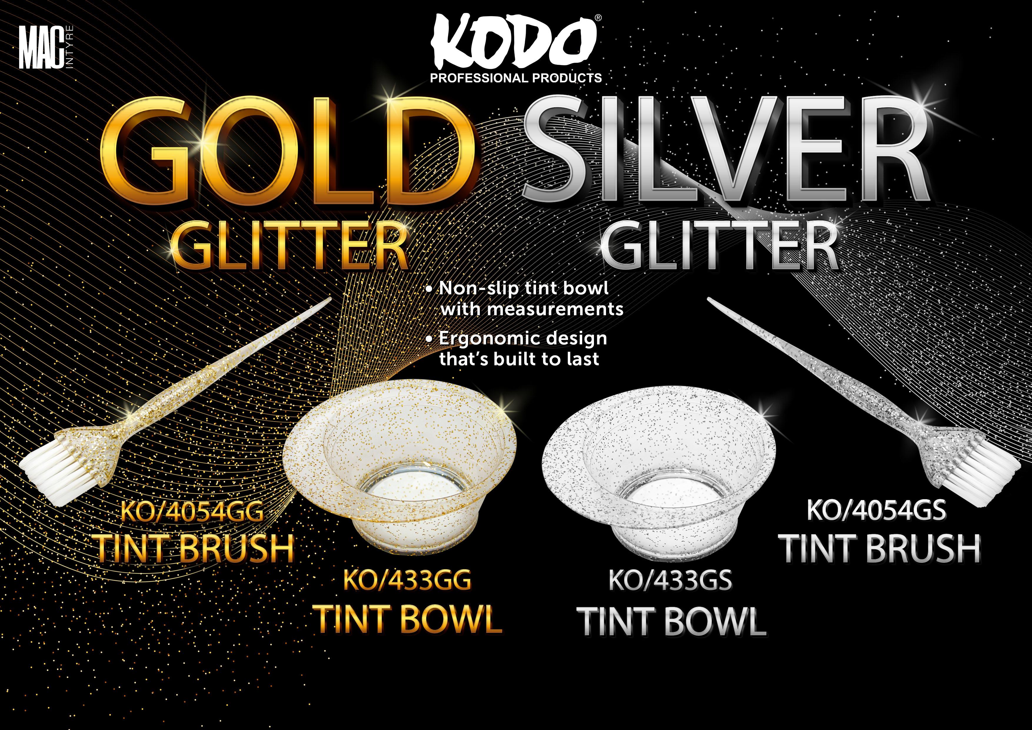 Kodo Glitter Tint Brushes & Bowls