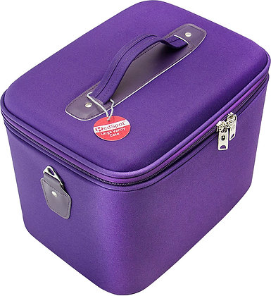 Red Spot Large Vanity Case Purple