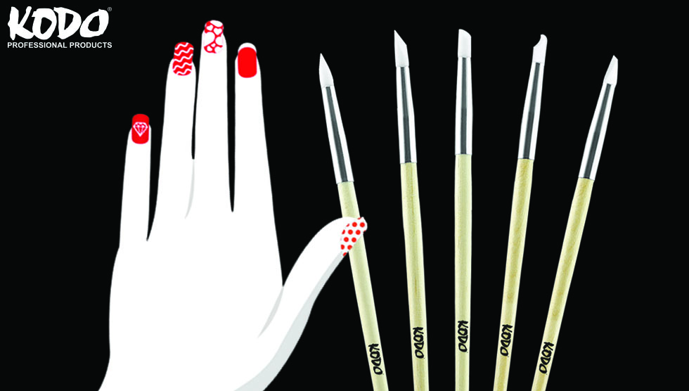 Kodo® Silicone Nail Art Brushes