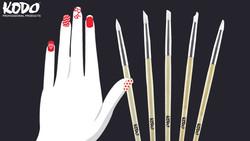 Kodo® Silicone Nail Art Brushes