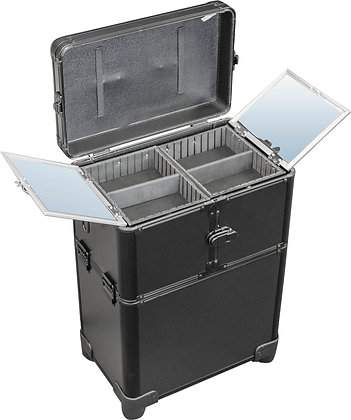 DMI 2-Tier Alu Case Black Matt Wheeled
