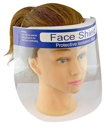 Protective Face Shield Blue Band