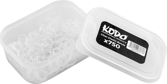 Kodo Clear Elastic Bands x 750
