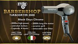 ETI 3500 Barbershop Onyx Black