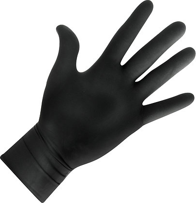 Pro Gloves Powder Free Latex Black x 20