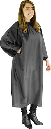 Red Spot Poly Hook Gown Black