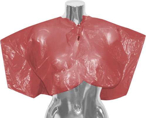 DMI Red Disposable Shoulder Cape