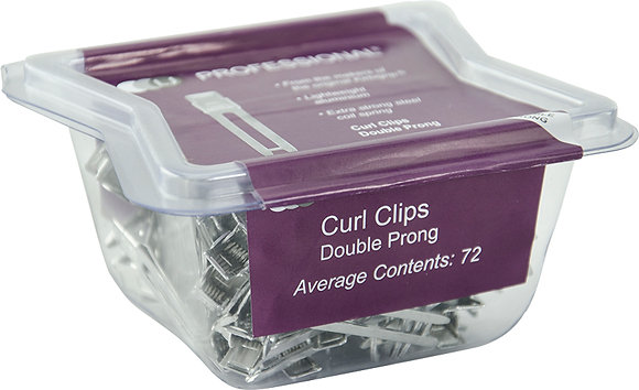 LJ Curl Clips Double Prong x 72