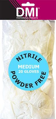 Bagged Powder Free White Nitrile Gloves x 20