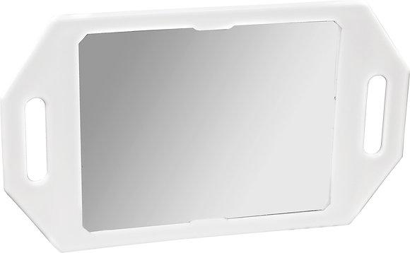 Kodo White Two Handed Mirror