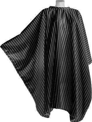 DMI Vintage Barber Cape White Pinstripe on Black