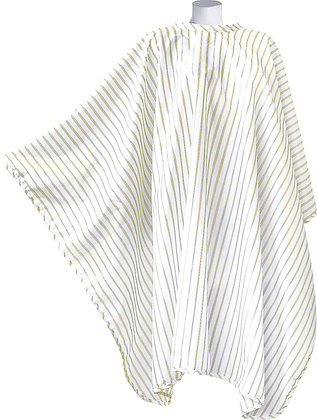 DMI Vintage Barber Cape Gold Pinstripe on White