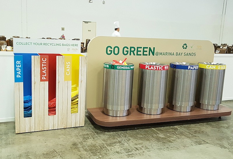 Recycling Bins at Marina bay Sands Convention Centre