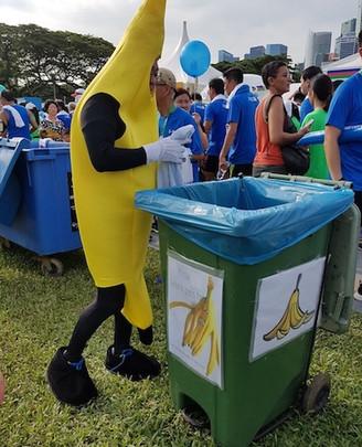 Banana Mascot at StanChart Run.