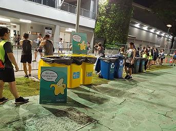 OSIM Marathon recycling at exit area