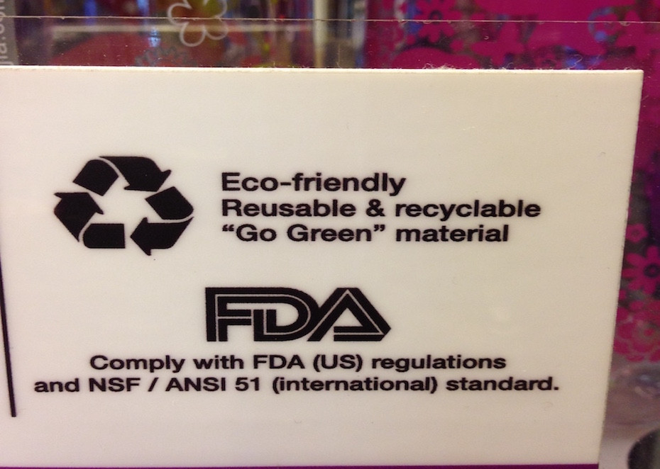 Water bottles are re-useable and plastics are recyclable – stating the obvious.