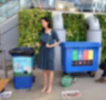 Recycling and Composting to reduce event's waste footpint.