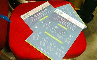 An excess of flyers and brochures were being circulated by many startups – these were often found discarded are various areas within the venue