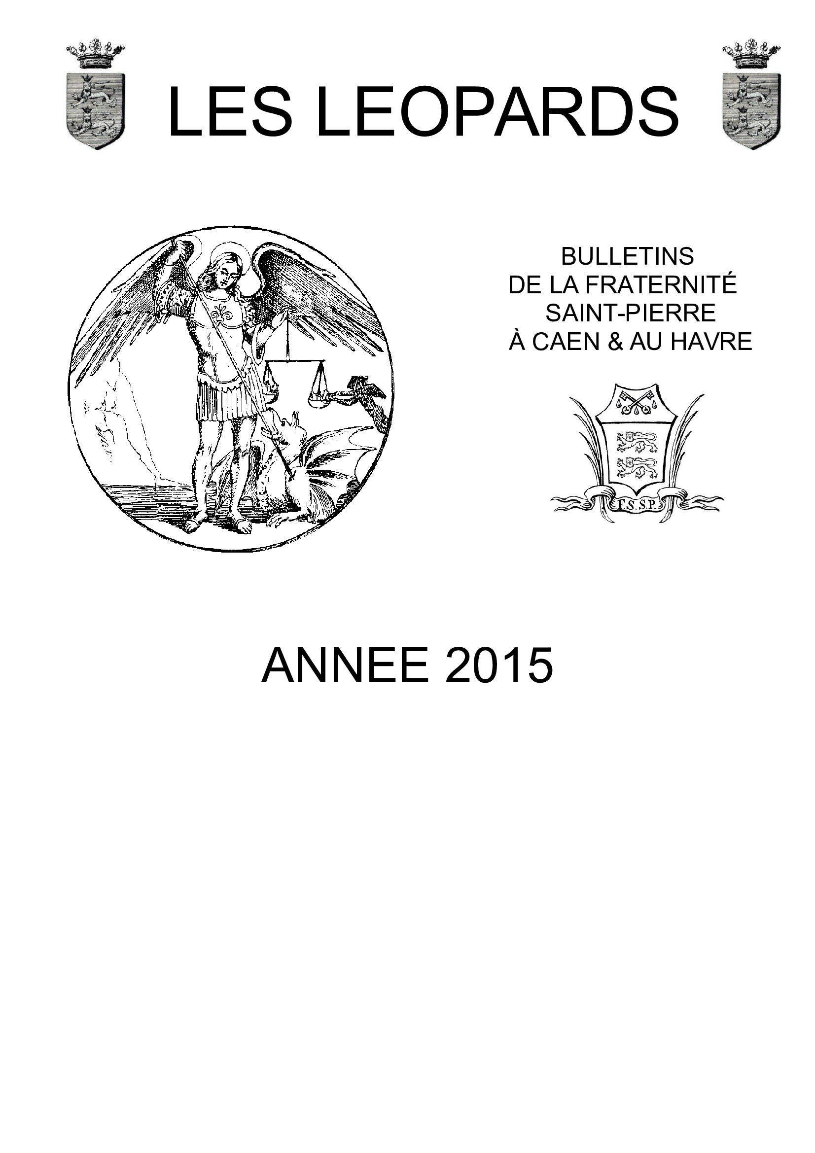 Bulletins de l'année 2015