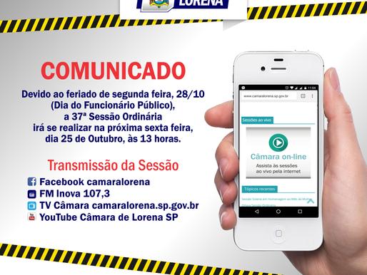 Comunicado Importante - Câmara Municipal de Lorena/SP