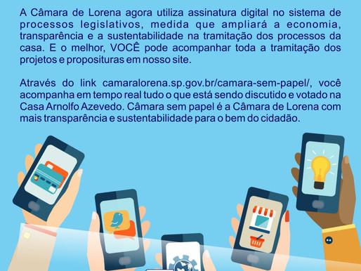 Notícia da Câmara Municipal de Lorena