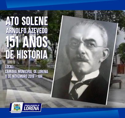 Ato Solene na Câmara Municipal de Lorena - Arnolfo Azevedo