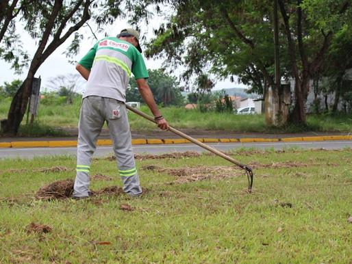 Na cidade de Guaratinguetá 16 regiões recebem limpeza urbana nesta semana.