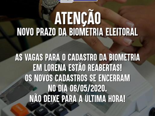 O CADASTRO da BIOMETRIA em Lorena estão REABERTAS!