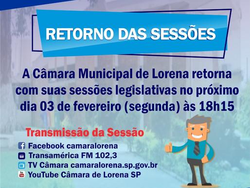 Fique atento: Retorno das sessões de Câmara em Lorena/SP