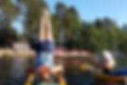 Stand Up Paddle Yoga on Little St Germain Lake in Vilas County Northwoods