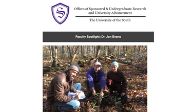 Lab Featured in Sewanee Research Newsletter