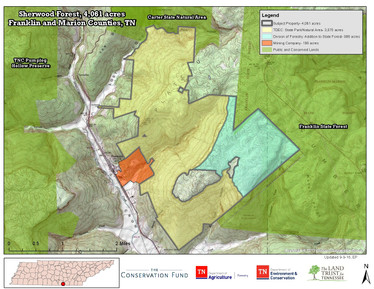 State Acquires Two Major Forest Tracts Near Sewanee