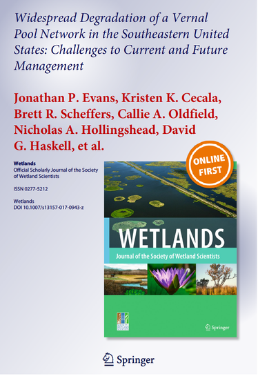 Vernal Pools Paper Published!