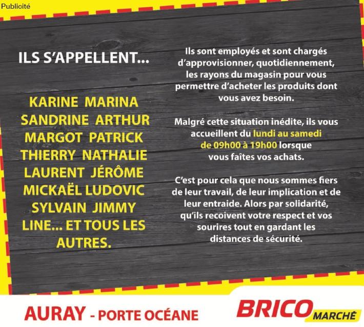BricoMarché Morbihan Auray Publicité déconfinement