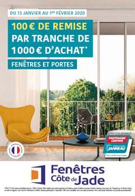 FENETRES COTE DE JADE prospectus campagne de communication Ouest-France