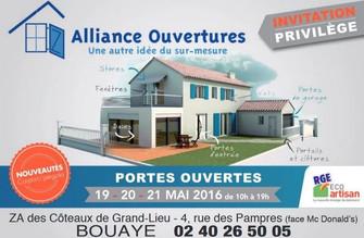Alliance Ouvertures à Bouaye, une Publicité Precom Habitat