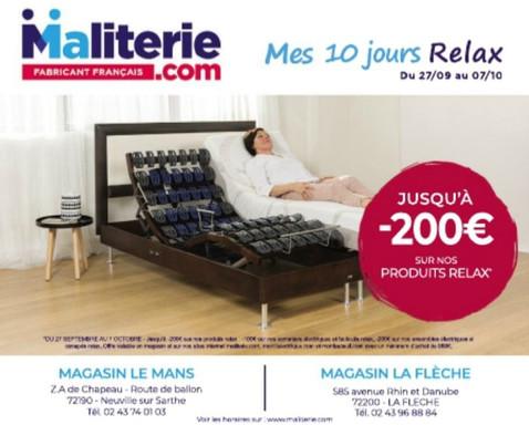 MaLiterie.com sur Le Mans et La Flèche, Publicité Print Precom Habitat