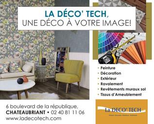 La Deco'Tech Pub Print Precom Habitat, professionnel de la peinture, décoration, ravalement, revêtement à Châteaubriant
